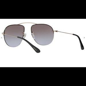 Prada PR 580S Teddy Sunglasses Gold/Violet Lenses
